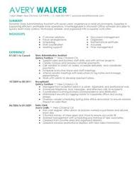 Best Store Administrative Assistant Resume Example | LiveCareer More Store Administrative Assistant Resume Examples