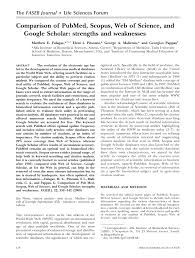 academic paper comparison of pubmed scopus web of science and academic paper comparison of pubmed scopus web of science and google scholar strengths and weaknesses