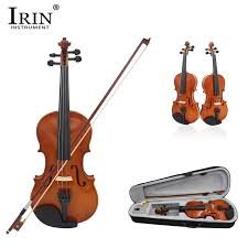 IRIN <b>4/4 Full Size Natural</b> Acoustic Violin Fiddle Craft Violino With ...