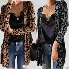 <b>ЗАНЗЕА</b> M-5XL Весна <b>Осень женщины</b> Леопард Печати Пальто ...