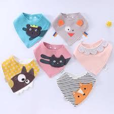 <b>Baby Bibs</b> Waterproof Triangle Cotton Cartoon Child <b>Baberos</b> ...