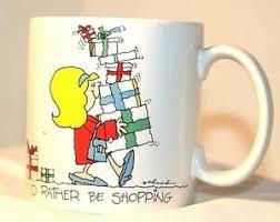 <b>Id Rather Be Shopping</b> Russ Humor 12 oz Coffee Mug Made In Korea