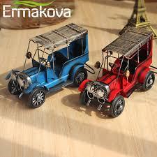 2019 ERMAKOVA <b>Metal Old Car Figurine</b> Vintage Vehicle Model ...