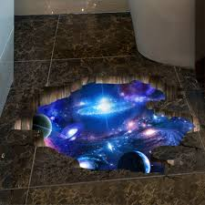 3D Outer Space Wall Stickers <b>Home Decor Mural Art</b> Removable ...