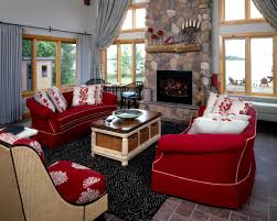 neutral room red sofas burgundy furniture decorating ideas