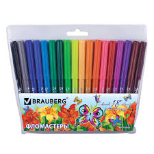 "<b>Фломастеры BRAUBERG</b> ""<b>Wonderful butterfly</b>"", 18 цветов – купить ..."