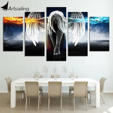 <b>5 Piece</b> Print Angel With Wings <b>Painting</b> – Full Force Imports