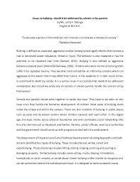 persuasive essays on bullyingpersuasive essays  persuasive essay examples  funny persuasive     cause and effect essay