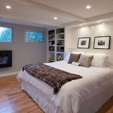 master bedroom in basement bumpouts for bookshelves track lighting basement bedroom lighting ideas