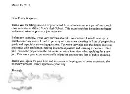 sample thank you letter after medical school interview thank you letter