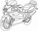 Раскраска для мальчиков мотоциклы