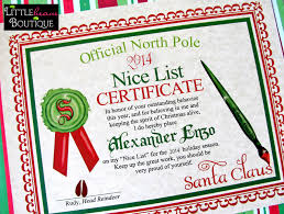 printable santa s nice list certificate diy letter santa 128270zoom