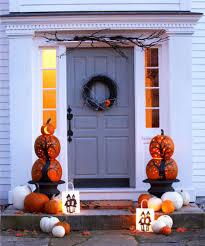 love halloween window decor: front door with halloween decorations  halloween door decor  s