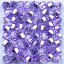 <b>4mm 100pcs Austria</b> Crystal Bicone Beads Purple AB Glass Beads ...