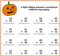 Halloween cards, worksheets, coloring pages, and more Halloween ...free printable Halloween math worksheets - addition, subtraction, multiplication