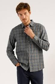<b>Верхняя сорочка</b> мужская, цвет серый, артикул: A19-22026_2091 ...