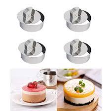 JUNGEN <b>Stainless Steel</b> Food Cooking Presentation <b>Rings</b> Mould 4 ...