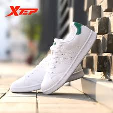 <b>Xtep Men Women</b> Skateboarding Shoe Couple Leather Unisex ...