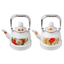 <b>Чайник эмалированный</b> 1,1 <b>л</b> Полянка в магазинах Галамарт