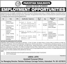 railway offers new employment opportunities dec  railway offers new employment opportunities dec 2016