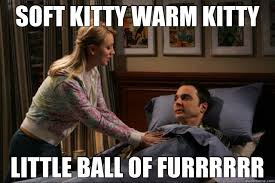 SOFT KITTY WARM KITTY LITTLE BALL OF FURRRRRR - Sheldon - quickmeme via Relatably.com