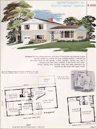 National Plan Service   Midcentury Split Level House   Plan     National Plan Service   No  E