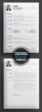 professional cv resume templates and cover letter design creative clearn professional resume template