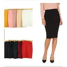 Fashion Style Lady Cotton <b>Pencil Skirts Stretch Office</b> Wear ...