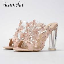 <b>Vicamelia</b> Woman Flounce Middle Heel Pumps Slippers Shallow ...