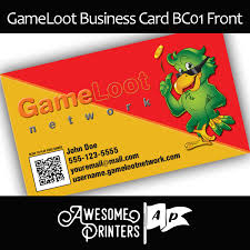 gameloot network business cards