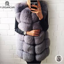 <b>FURSARCAR Real</b> Fox Fur Coat Women <b>Winter</b> Natrual Fur ...