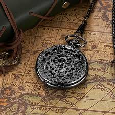 <b>OUYAWEI</b> Antique Design Fob Watch <b>Skeleton</b> Case Moon Phase ...