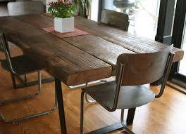 Custom Wood Dining Room Tables F Dining Room Table With Chairs And Rectangle Varnished Iron Wood