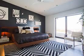 f ravishing bedroom design ideas with cool art wall decor and brown varnished oak wood floating platform beds on black white chevron carpet floors plus carpets bedrooms ravishing home