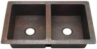 hammered copper kitchen sink: kitchen kdi w  sinks   choose size