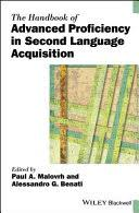 The Handbook of Advanced Proficiency in Second Language ...