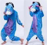 Cartoon Animal Cosplay Donkey <b>kigurumi</b> Onesies Pajamas ...
