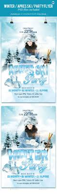winter apres ski party flyer by corrella graphicriver winter apres ski party flyer events flyers