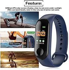 BIYI <b>Smart Band Watch Bracelet</b> Fitness Tracker Pedometer Heart ...