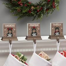 Holiday Bear <b>Family Personalized Stocking</b> Holder   Bed Bath ...