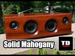 <b>Solid</b> Mahogany <b>Wood Bluetooth Speaker</b> - The Prestige - YouTube
