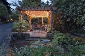 portland landscaping outdoor lighting pergola beautiful outdoor lighting