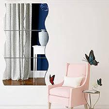 <b>6PCS</b> Wavy Mirror Wall Stickers, 3D Mirror Art DIY <b>Home Decorative</b> ...