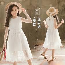 <b>Girls Dress</b> 2019 Teenage New <b>Summer Kids Dress</b> Princess Lace ...