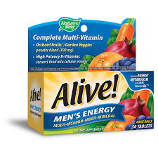 <b>Alive</b>! Men's <b>Energy Multivitamin</b> Supplements with Orchard Fruits ...
