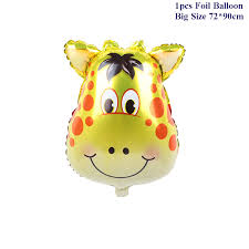 Large Size <b>Animal Balloons Unicorn</b> Fox Lion Zebra Pig Cow ...