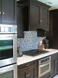 painted blue kitchen cabinets house: blue skies hand painted x glass mosaic tiles rocky point tile photos hgtv contemporary kitchen with