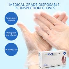 <b>100pcs PVC</b> Transparent <b>Disposable</b> Gloves Viseiras Protecao ...