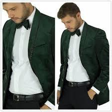 <b>Hunter Green Velvet Gold</b> Trim Men's Jacket Coat 2 Button Classic ...