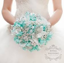 Sky Blue wedding bouquet aqua blue bouquet aqua marine ...